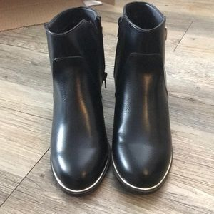 Metallic Trim Ankle Boot